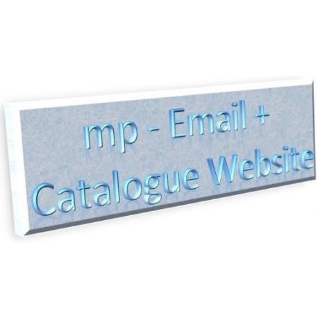Email + Catalogue Website
