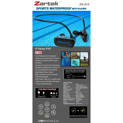 WATERPROOF MP3 PLAYER ZA-512
