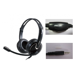 Mecer Headset with MIC-Single 3.5mm Audio Jack